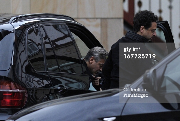Photos: George Clooney filming in Ilsenburg, Germany Ilsenb13