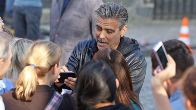 Photos and videos: George Clooney filming in Merseburg Merseb17