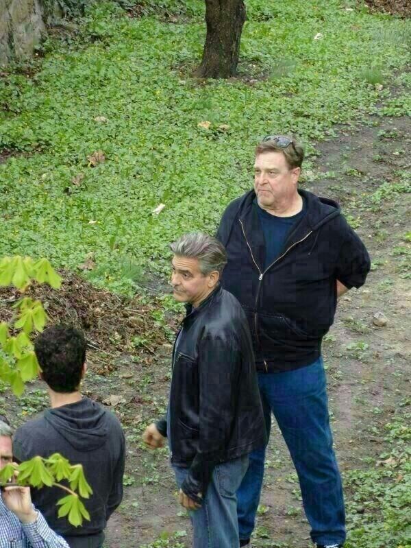 Photos and videos: George Clooney filming in Merseburg Merseb19