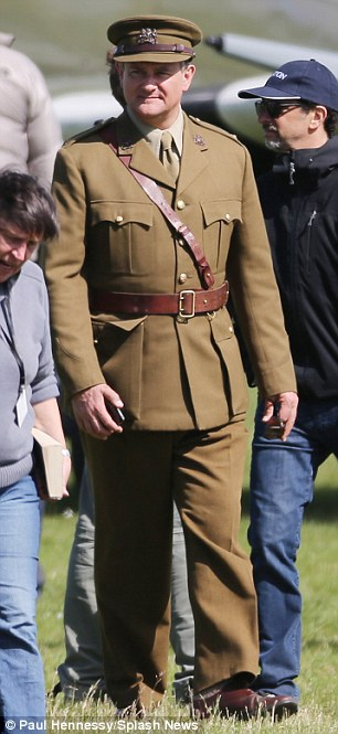 George Clooney filming Monuments Men in Hertfordshire June 3 Mm_clo13
