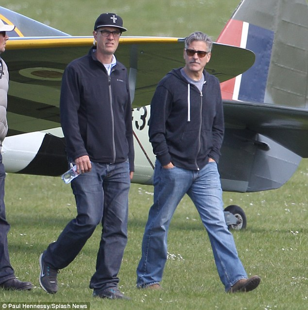 George Clooney filming Monuments Men in Hertfordshire June 3 Mm_clo17