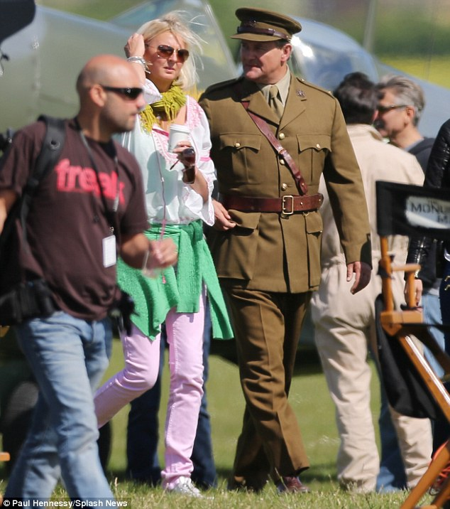 George Clooney filming Monuments Men in Hertfordshire June 3 Mm_clo19