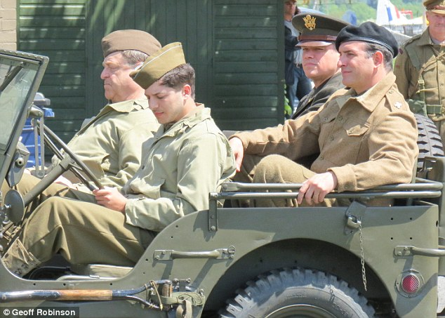 George Clooney filming Monuments Men in Hertfordshire June 3 Mm_clo22