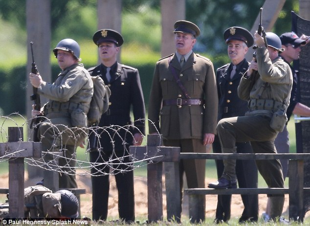 George Clooney filming Monuments Men in Hertfordshire June 3 Mm_clo23