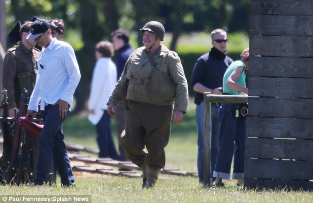 George Clooney filming Monuments Men in Hertfordshire June 3 Mm_clo26