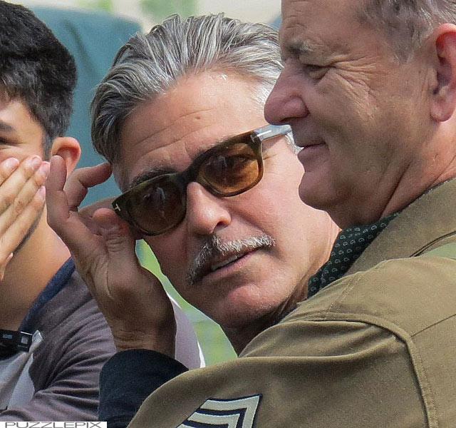 George Clooney filming at RAF/Imperial War Museum Duxford in Cambridgeshire - Page 2 Mm_clo30