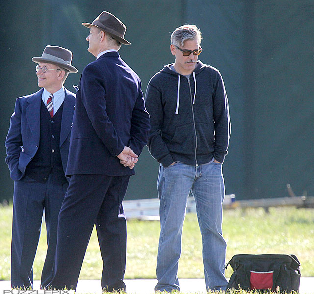 George Clooney filming at RAF/Imperial War Museum Duxford in Cambridgeshire - Page 2 Mm_clo31