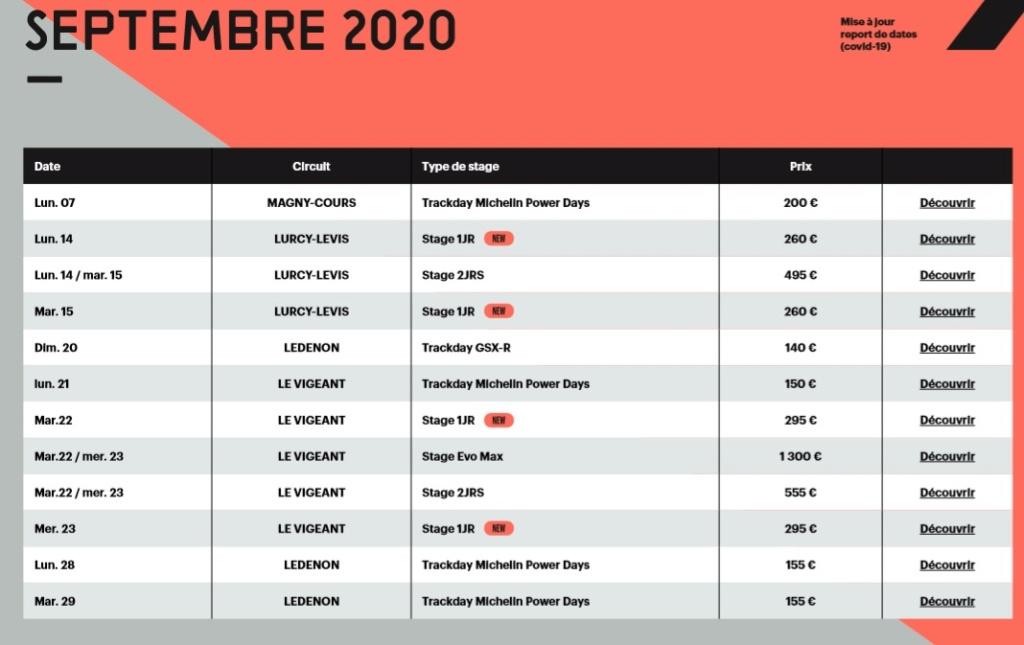 Calendrier roulages BMC 2020 Mis à jour le 16/05/2020 Calend21