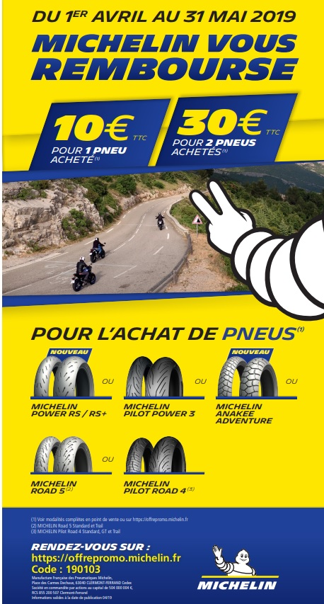 Promo pneus MICHELIN mois de Mai ! Michel12