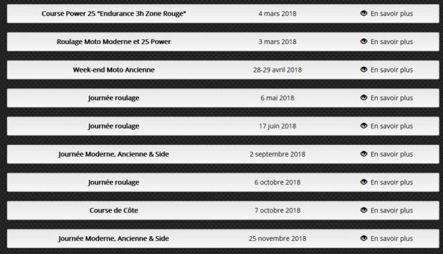 Calendriers 2019 de nos partenaires organisateurs de roulages Roulag10