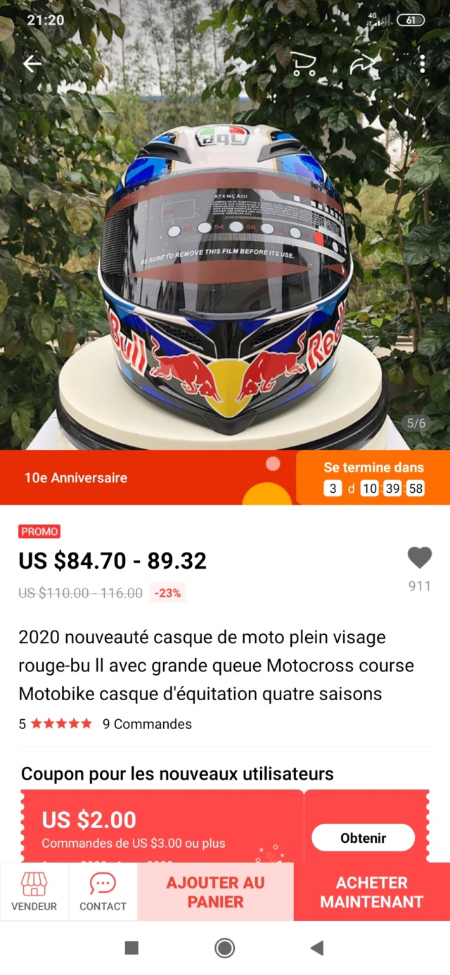 Casque Arai/Shoei/AgV à moins de 100€... chinoiseries ! Screen19