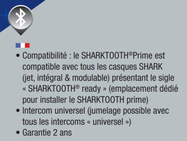 [NEW : Présentation] Système intercom pilote/passager SHARKtooth Prime pour casque  Screen25
