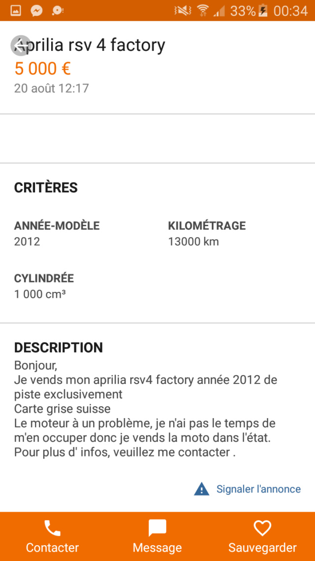 Demande d'estimation de ma moto Screen41
