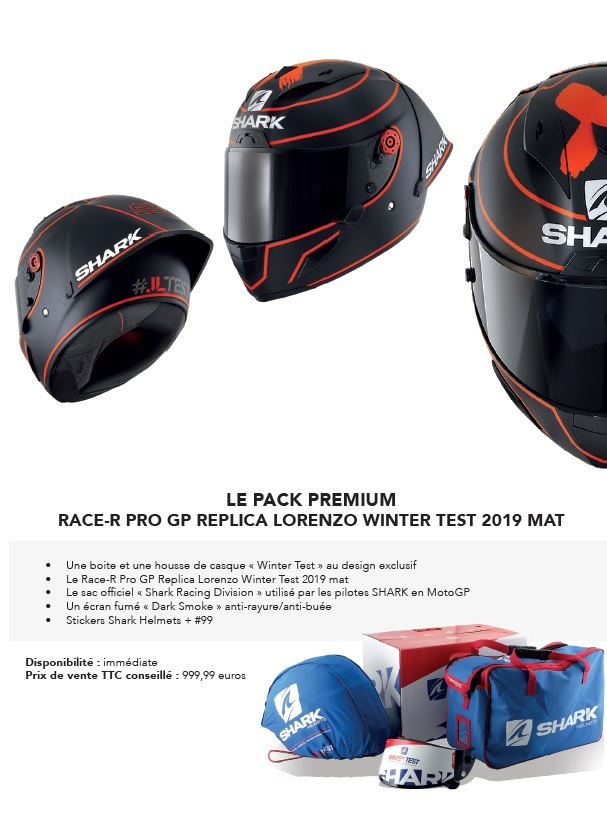 SHARK HELMETS dévoile 4 nouveaux casques pour le GP de FRANCE MOTOGP Shark410