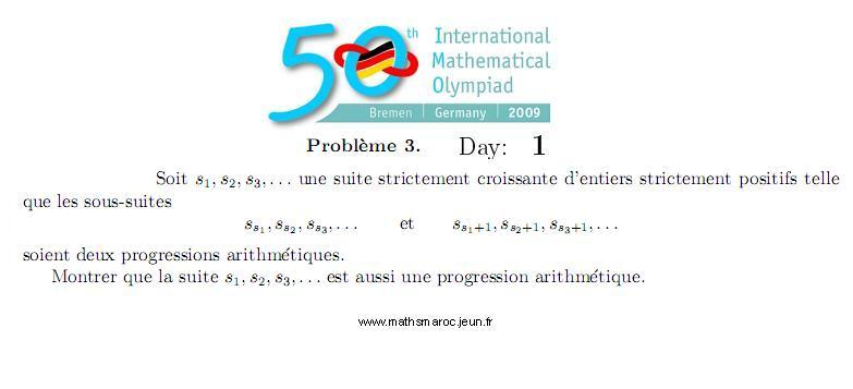 Problem 3 IMO 2009 (Day1) Pb310