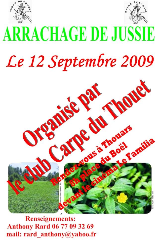 Arrachage de Jussie sur le Thouet le 12 Septembre Affich11
