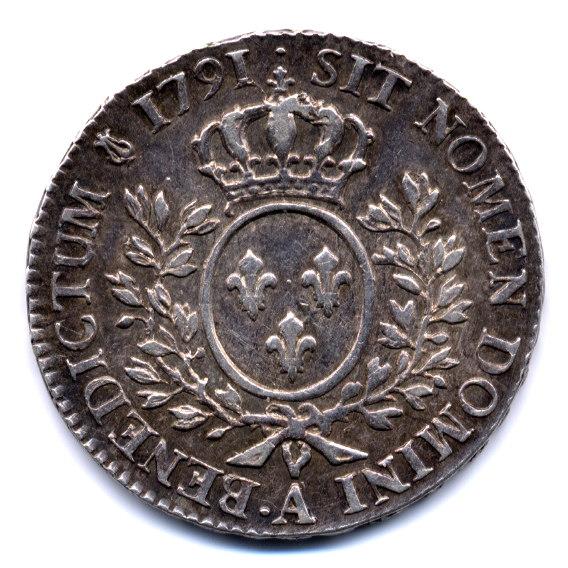 Demi écu Louis XVI 1791 .A Demi_a12