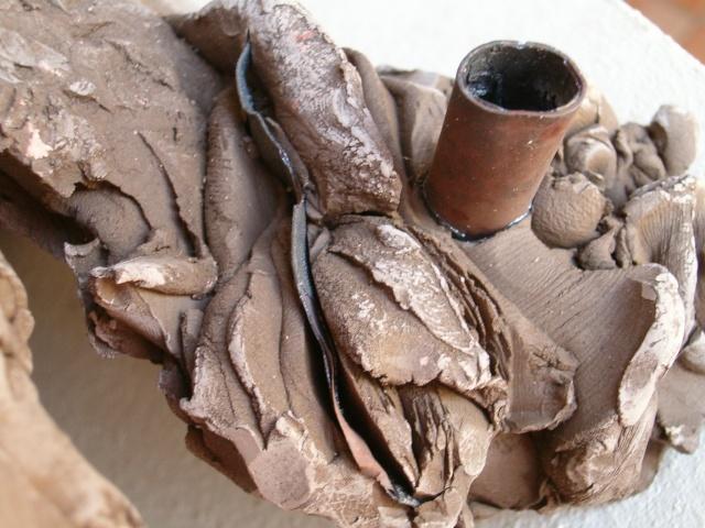 sculpture en terre et métal Photo_23