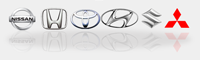 Nissan, Honda, Toyota, Hyundai, Suzuki, Mitsubishi