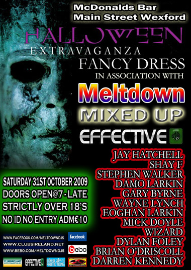 Meltdown Presents The Halloween Extravaganza 31-10-09 31st-o10