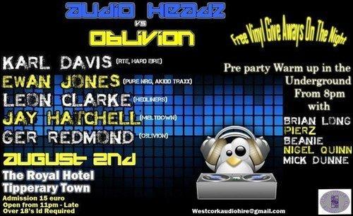 Oblivion Pres Karl Davis The Royle Hotel Tipperary 02-08-09 Oblivi10