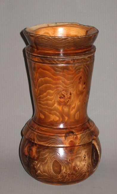 Jarrón madera de Tejo Jarron10