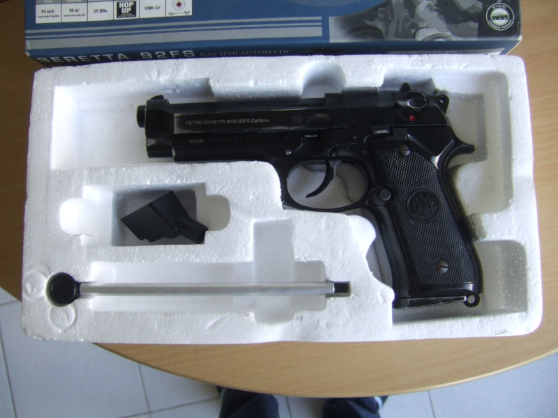 Beretta  92fs kjw full metal blowback Dscf5511