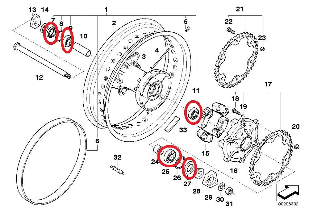 Remplacement des roulements de roue AR Rempla10