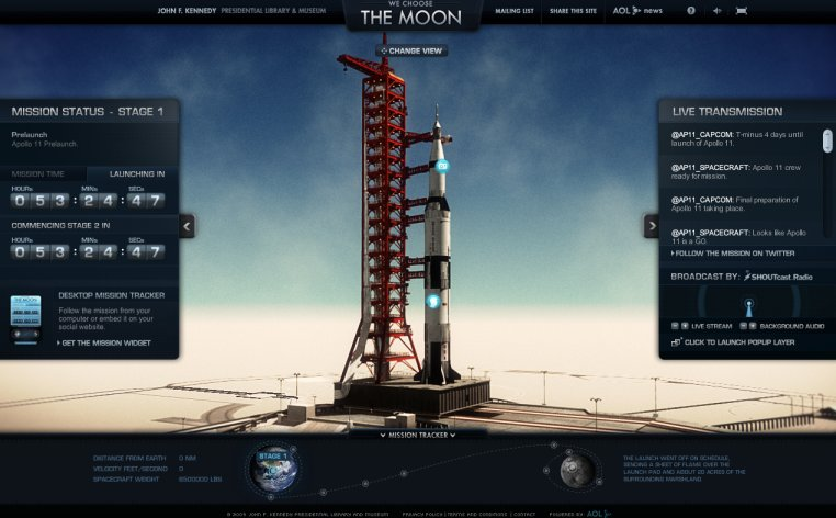 Un site web recréant la mission Apollo XI en temps réel Image120
