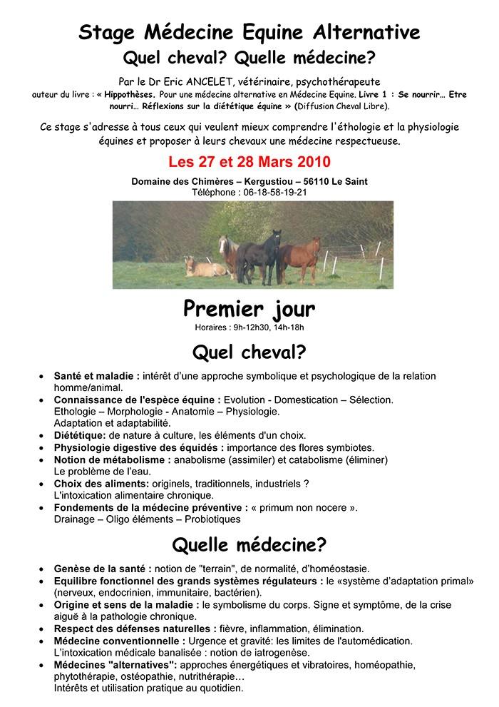 Stage du Dr Ancelet en Bretagne (56) Ancele10