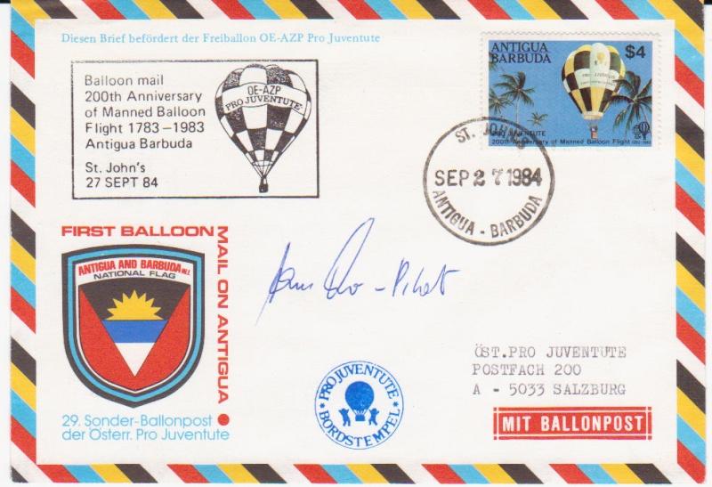 ballonpost - Ballonpostflug Pro Juventute Bild115