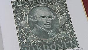 Buch mit Miniatur-Porträts von Haydn Marke-10