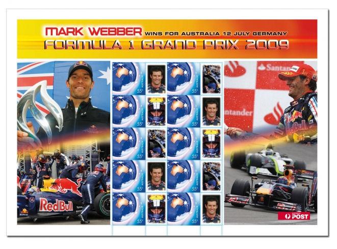 Webber bekommt eigene Briefmarke Webber10