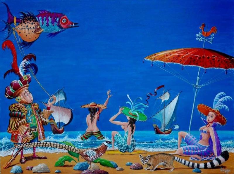 La Plage : Artistes peintres, illustrateurs, photographes... Michau10