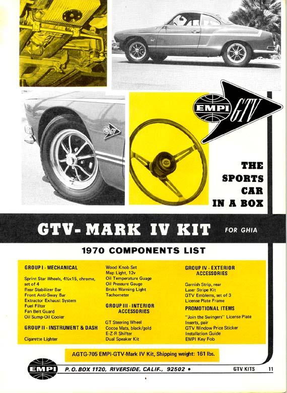 EMPI GHIA GTV Gtv11a10