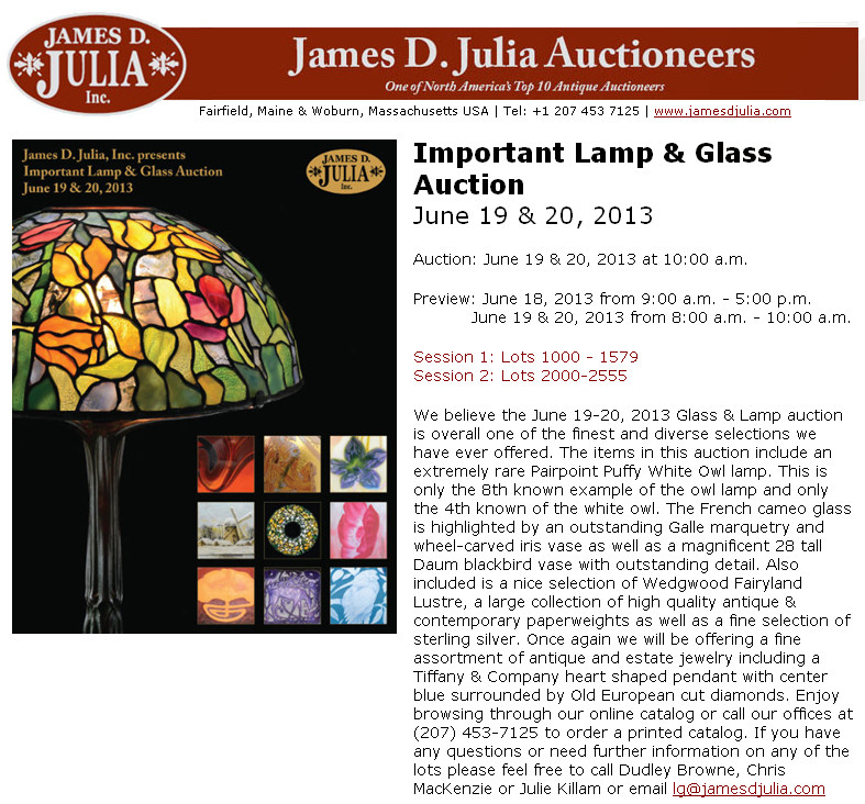 Julia Lamp & Glass Auction - June 19-20 Julia10