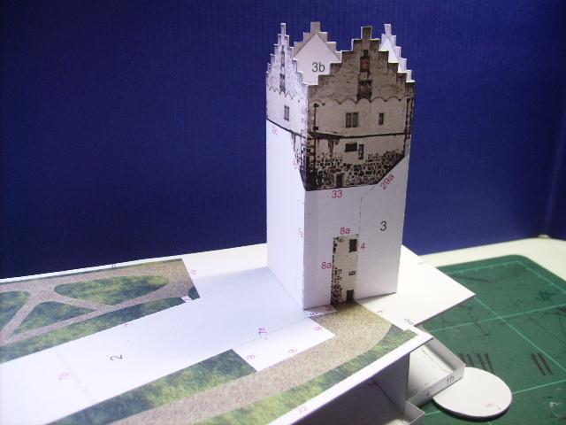 Burg Meersburg am Bodensee, Maßstab 1:300. Schreibermodell. Meersb17