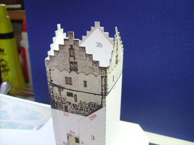Burg Meersburg am Bodensee, Maßstab 1:300. Schreibermodell. Meersb18