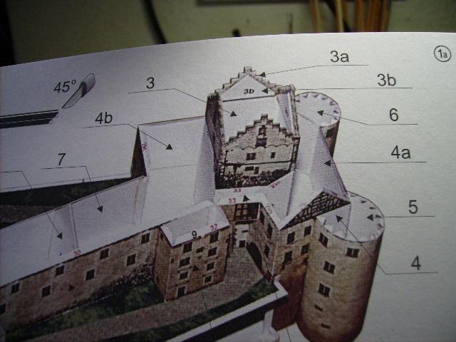 Burg Meersburg am Bodensee, Maßstab 1:300. Schreibermodell. Meersb19