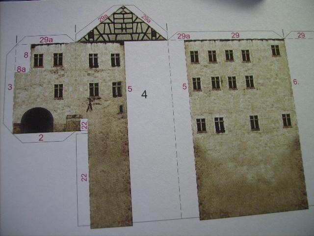 Burg Meersburg am Bodensee, Maßstab 1:300. Schreibermodell. Meersb20