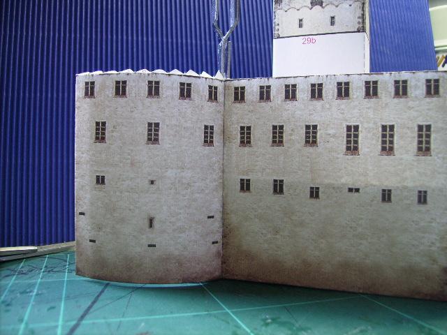 Burg Meersburg am Bodensee, Maßstab 1:300. Schreibermodell. Meersb22