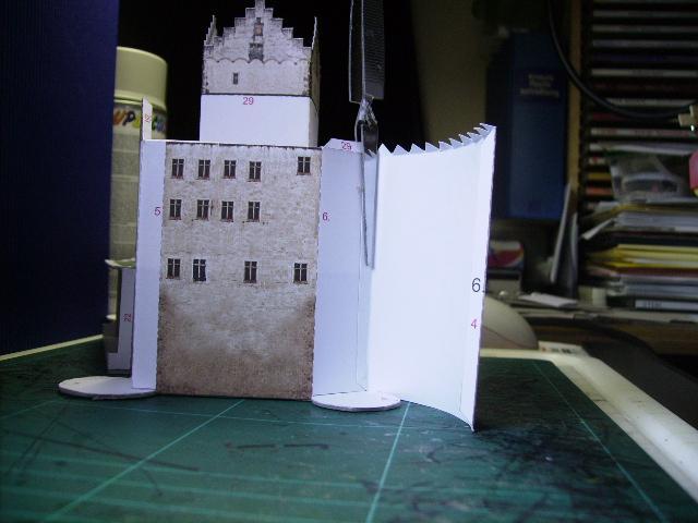 Burg Meersburg am Bodensee, Maßstab 1:300. Schreibermodell. Meersb23