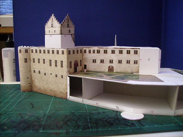 Burg Meersburg am Bodensee, Maßstab 1:300. Schreibermodell. Meersb26