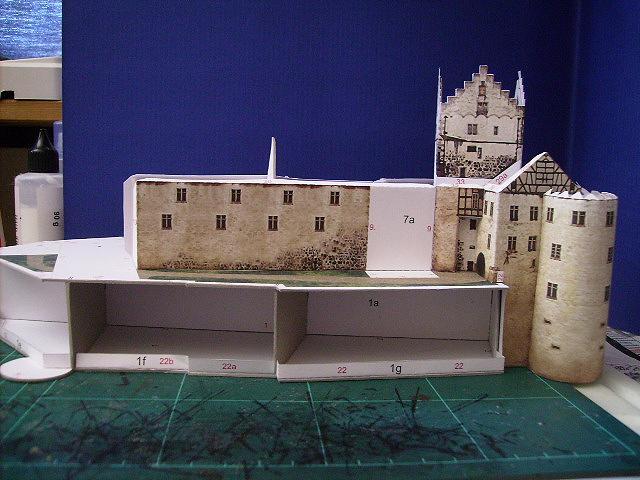 Burg Meersburg am Bodensee, Maßstab 1:300. Schreibermodell. Meersb27