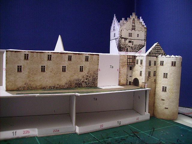 Burg Meersburg am Bodensee, Maßstab 1:300. Schreibermodell. Meersb28