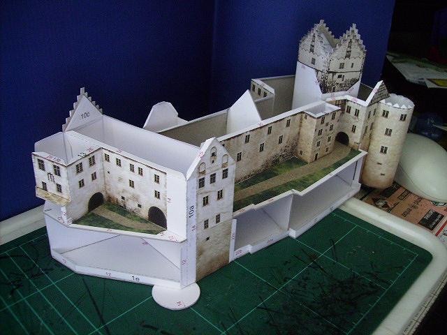 Burg Meersburg am Bodensee, Maßstab 1:300. Schreibermodell. Meersb29