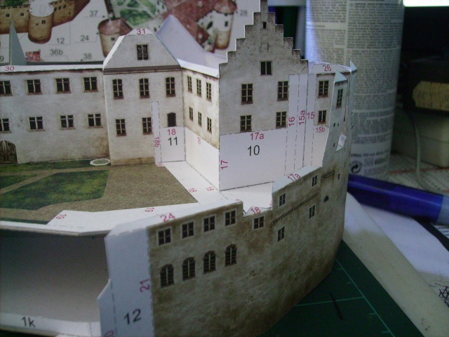Burg Meersburg am Bodensee, Maßstab 1:300. Schreibermodell. Meersb31