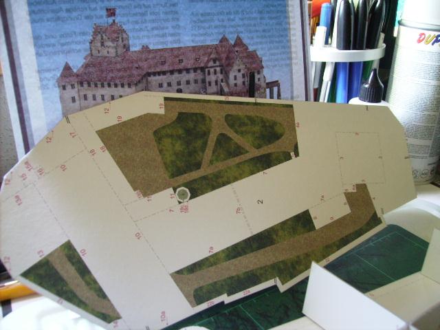 Burg Meersburg am Bodensee, Maßstab 1:300. Schreibermodell. Pict4410