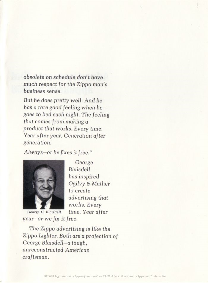Catalogue Zippo publicitaire de 1958 - 1967 0513