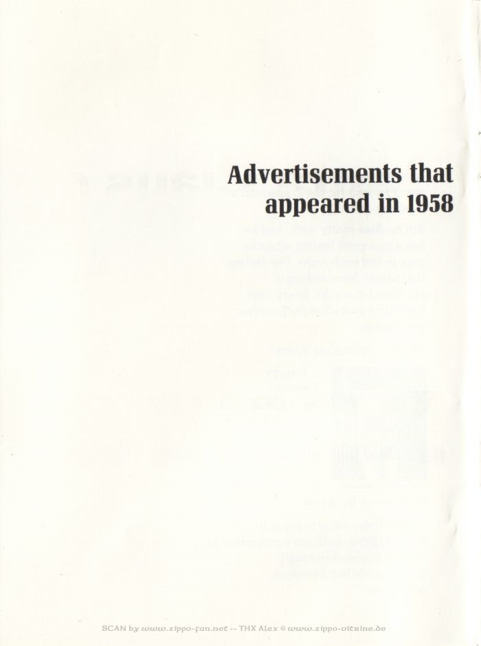 Catalogue Zippo publicitaire de 1958 - 1967 0613